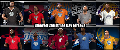 NBA 2K14 Med's Roster with X-mas Jerseys