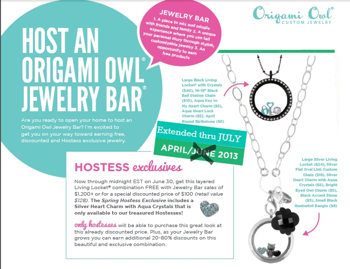 Origami Owl Summer 2015 Hostess