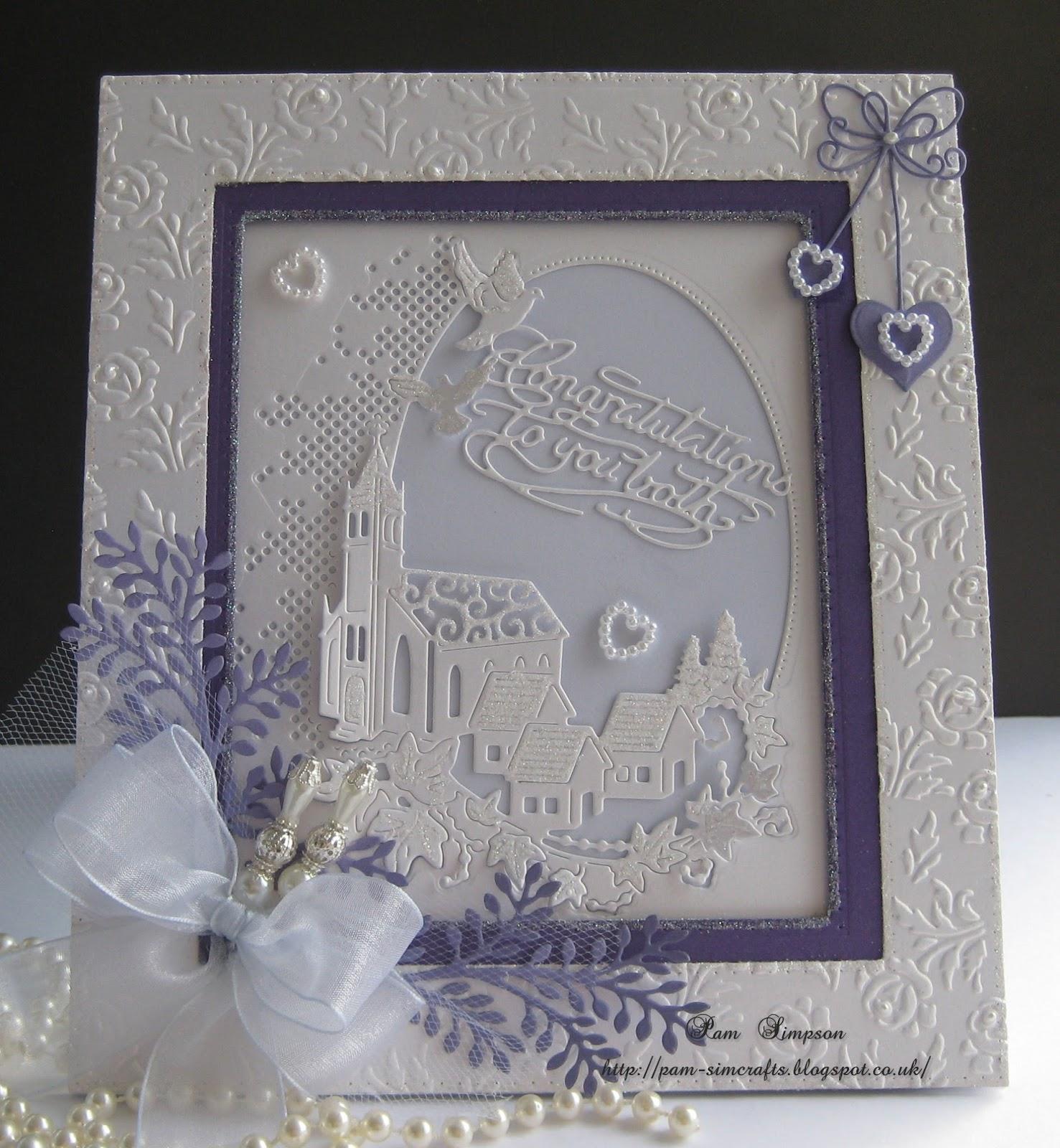 Pamscrafts: Village Church. Wedding Card