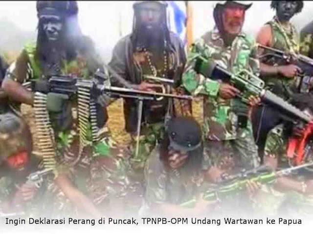 Ingin Deklarasi Perang di Puncak, TPNPB-OPM Undang Wartawan ke Papua