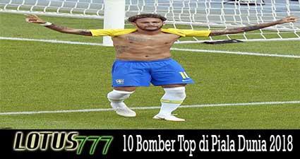 10 Bomber Top di Piala Dunia 2018