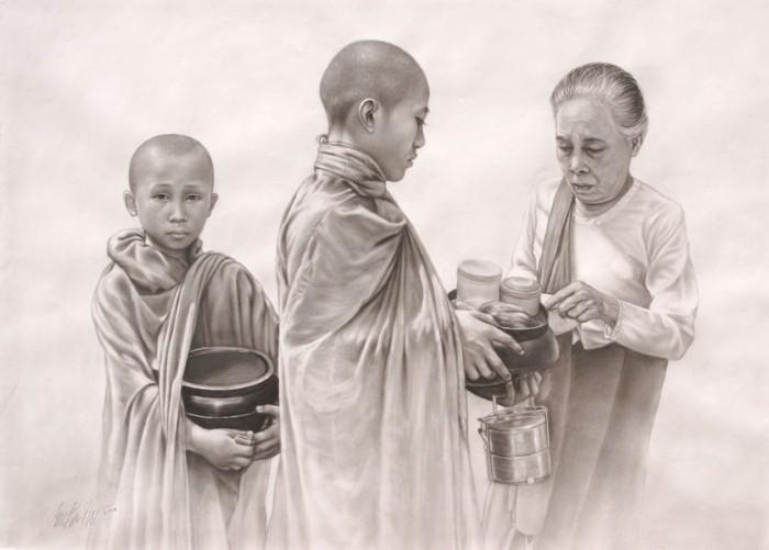 Лица монахов. Aung Kyaw Htet 5