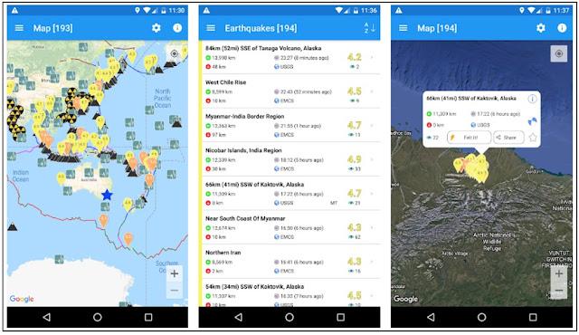 Aplikasi Android Pendeteksi Gempa Bumi