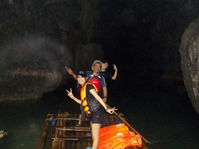 Rafting Inside the Underground River