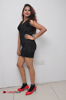 Model Sonia Pictures in Black Dress at Yes Mart Event  0032