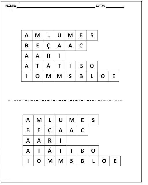 Atividades para Alfabetização - Mexe-Mexe Parte 2