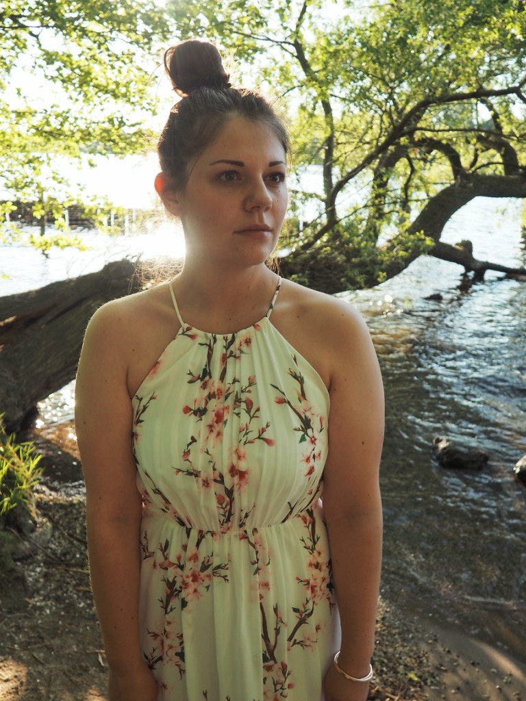 Kirschblüten Maxi Kleid