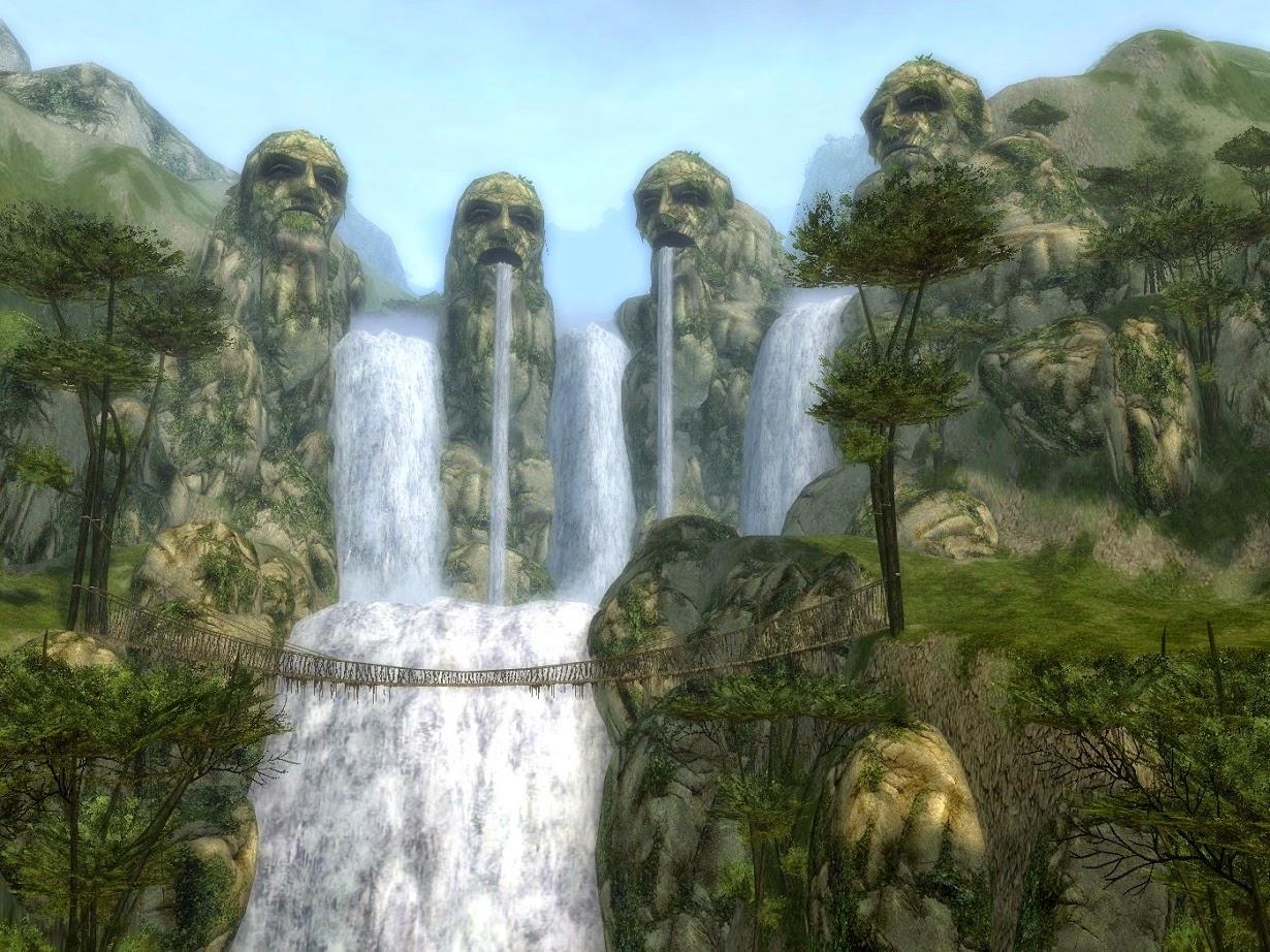 ini dia gambar pemandangan air terjun yang sayang untuk dilewatkan