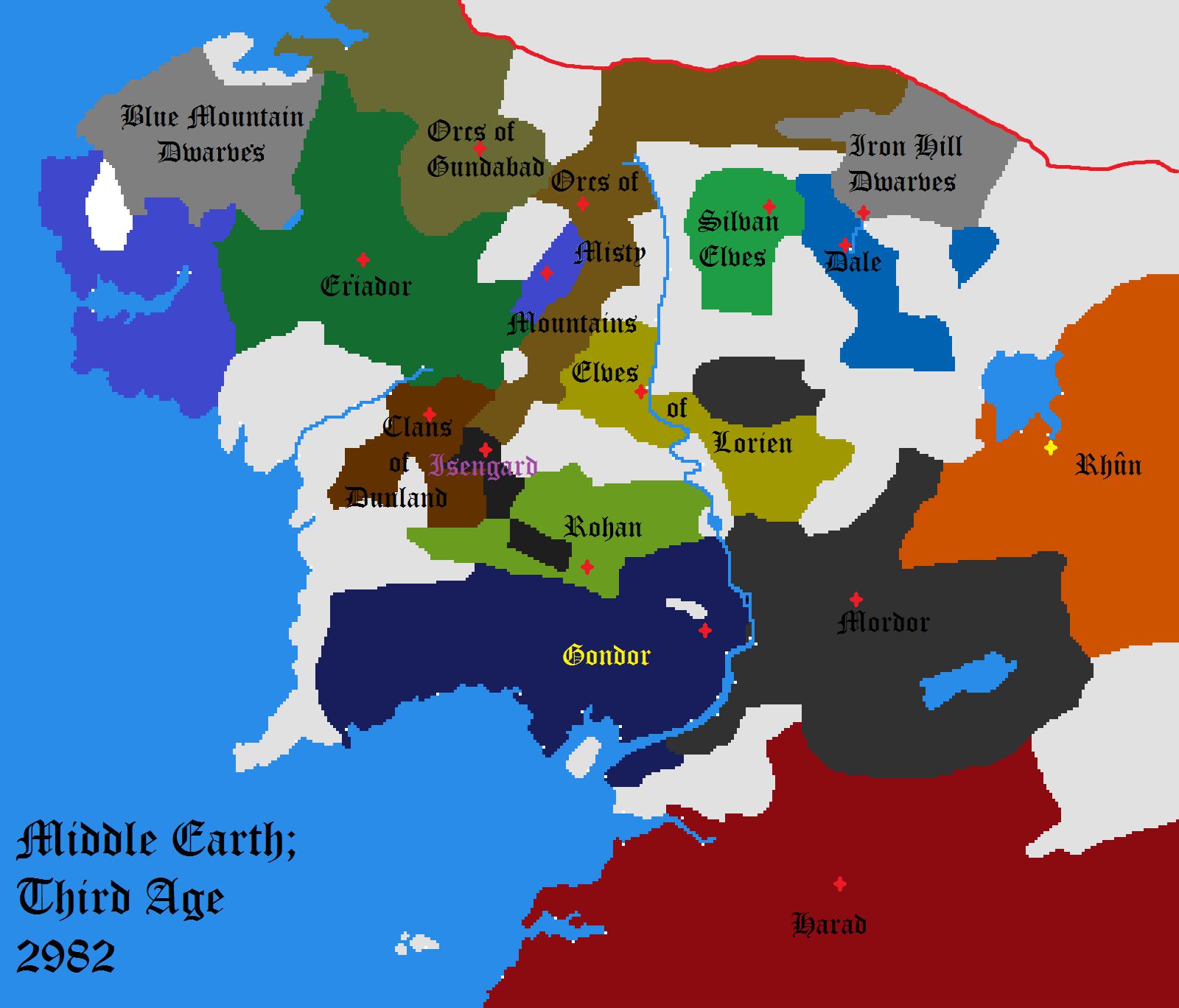 Risultati immagini per europe as middle earth