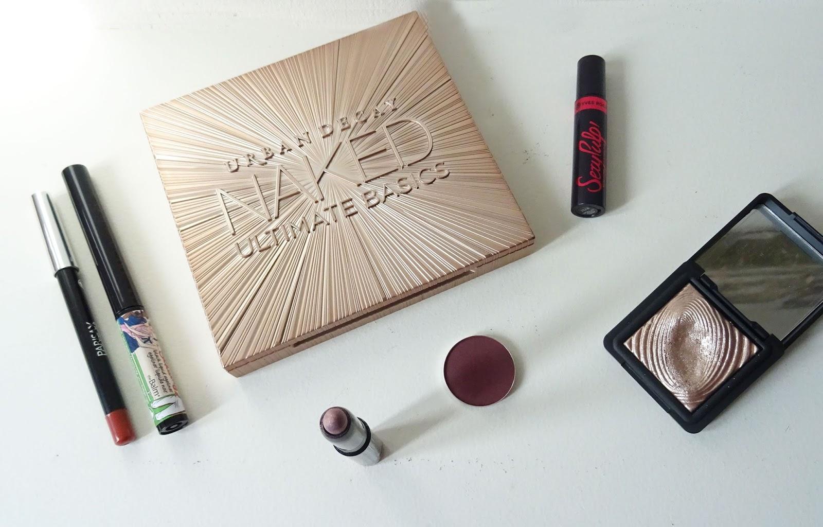 Tuto maquillage Rose gold et bordeaux Monday Shadow Challenge produits yeux