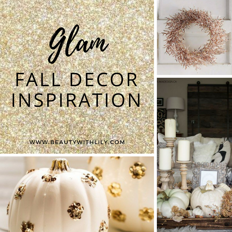 Rustic, Glam Fall Home Decor