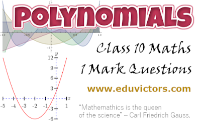 CBSE Class 10 - Maths - Chapter Polynomials - 1 Mark Questions (#cbsenotes)(#class10maths)(#eduvictors)