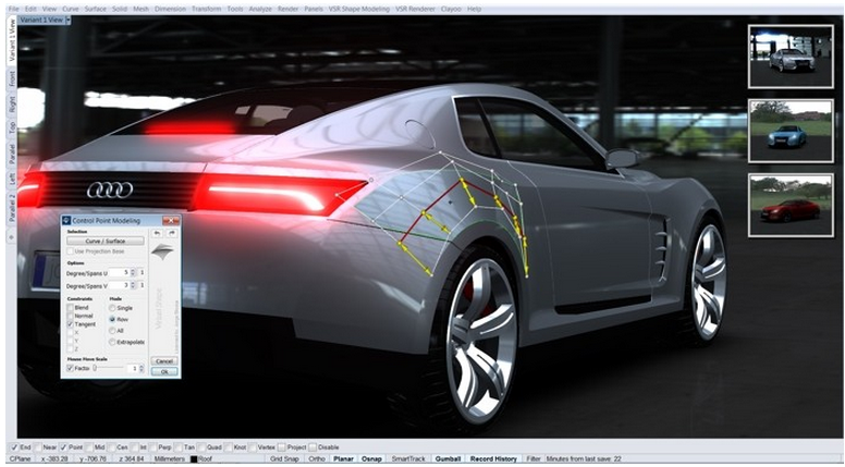 Rhino News, etc : Car Design workshop in Barcelona