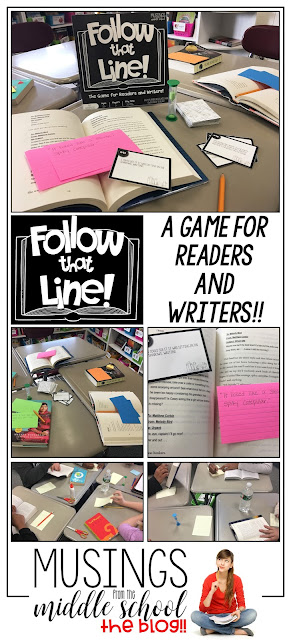 Follow That Line! A Game for Readers and Writers! Your students will love this game, making it a perfect addition to your reader's workshop.