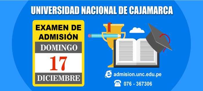 RESULTADOS Examen de Admisión UNC 2018-I 17 Diciembre 2017