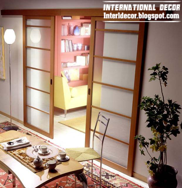 Modern sliding doors designs wide for office room interior ...