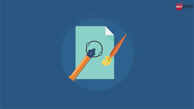 Cara Membuat Tulisan Teks Melingkar atau Melengkung di CorelDRAW