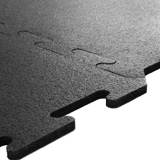 Greatmats interlocking rubber tile 8 mm non-revulcanized rubber