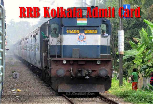 RRB Kolkata Admit Card
