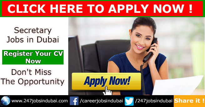Latest Secretary and Jobs Vacancies in Dubai