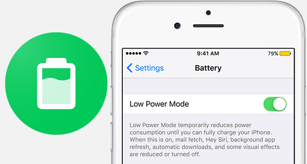 """A new tweak called """"QuickPowerMode"""" by the author """"Olxios&Nico is available in Cydia which allows users to quickly enable or disable low power mode by simply tapping the status bar icon"""