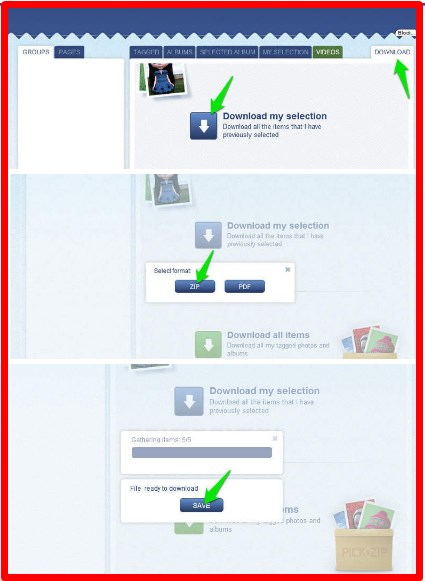 how to save facebook pictures before deleting account