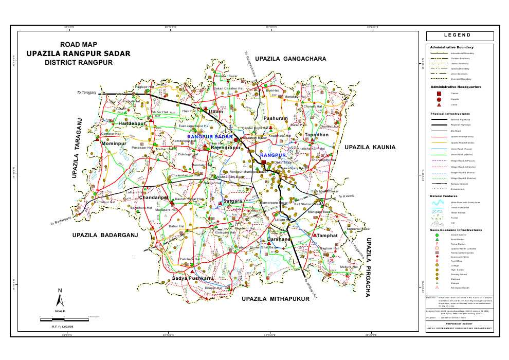 Mouza Map 3 Detailed Maps of Rangpur Sadar Upazila Rangpur