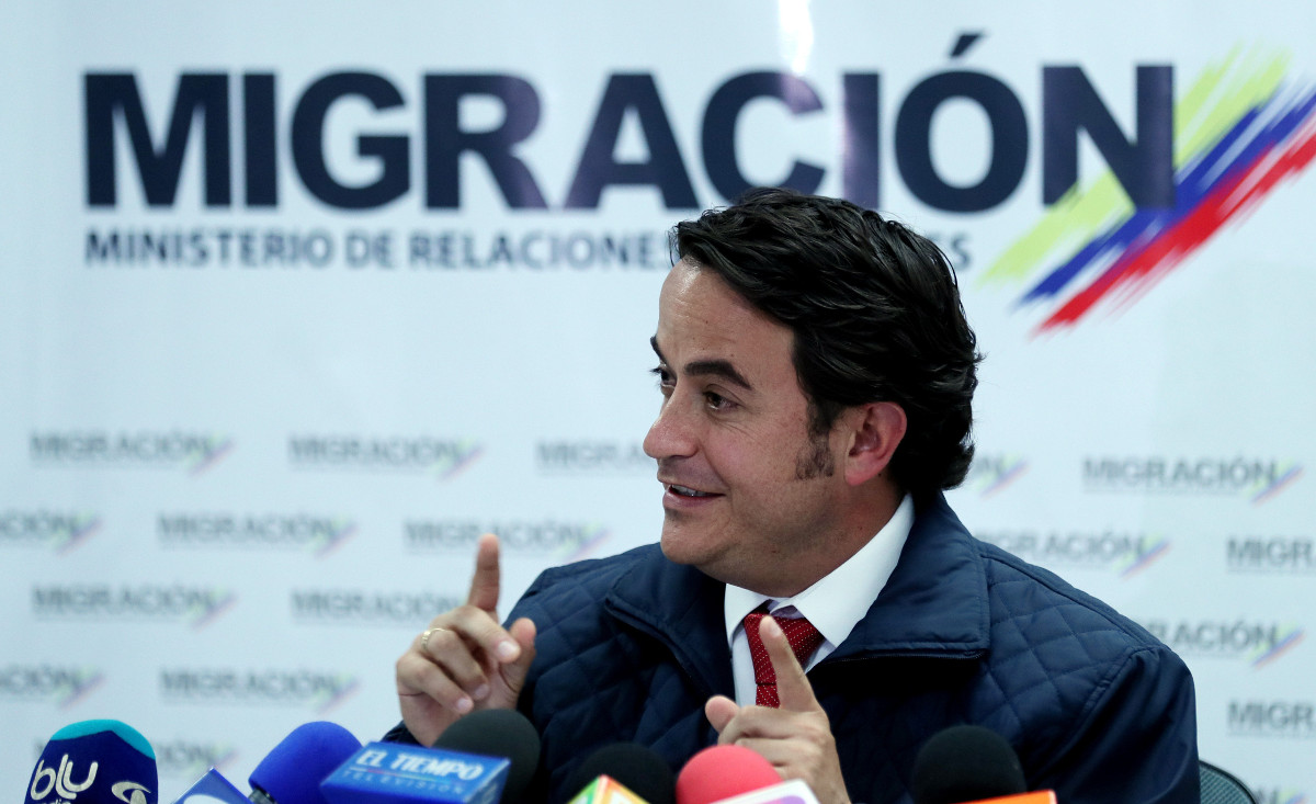 El funcionario encargado de Migración de Colombia, Christian Krüger / EFE
