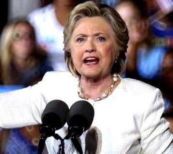 Foto de Hillary Clinton tras su derrota