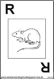 Baralho alfabético letra R