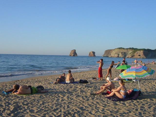 Vista da Praia Dois Jumeaux em Hendaye