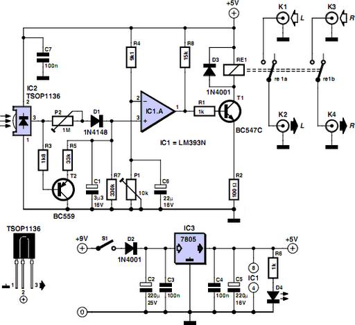 simple ir audio link