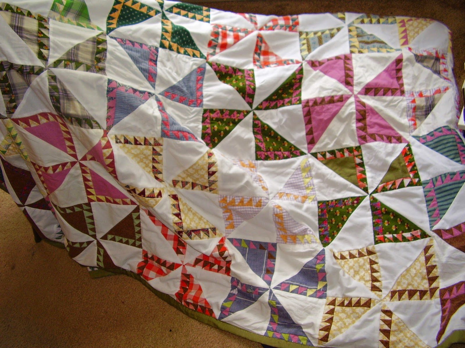 Flying Star patchwork quilt.
