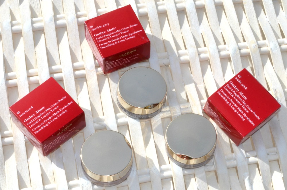 Image showing the eyeshadows next to their red boxes