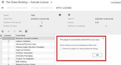 Acumatica Activate License