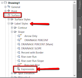 Insert expressions in Civil 3D from Autodesk