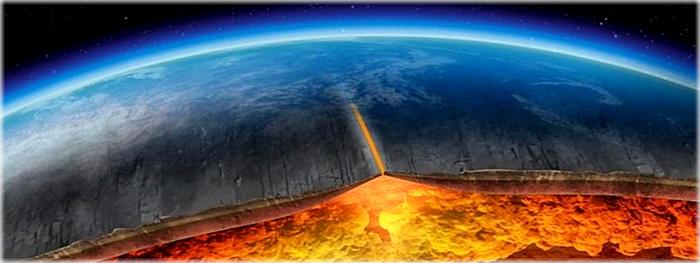 crosta da terra se dividindo descascando em portugal