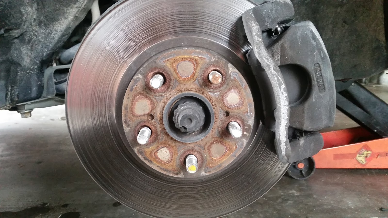 While doing this replacement you might as well change the front brakes  which I did in this DIY .