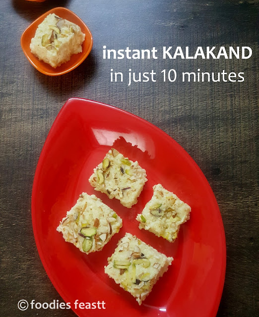 instant kalakand in just 10 minutes