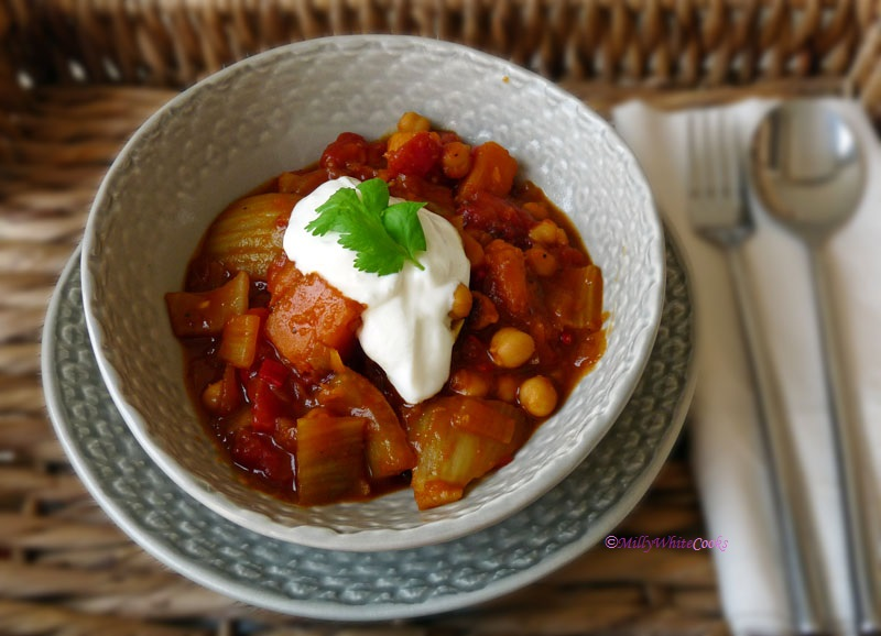 Vegan Fragrant Chickpea & Pumpkin Stew