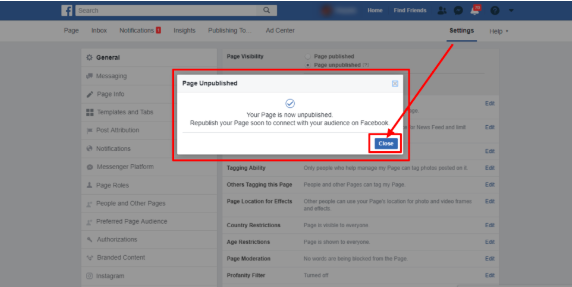 How To Make Your Page Private On Facebook<br/>