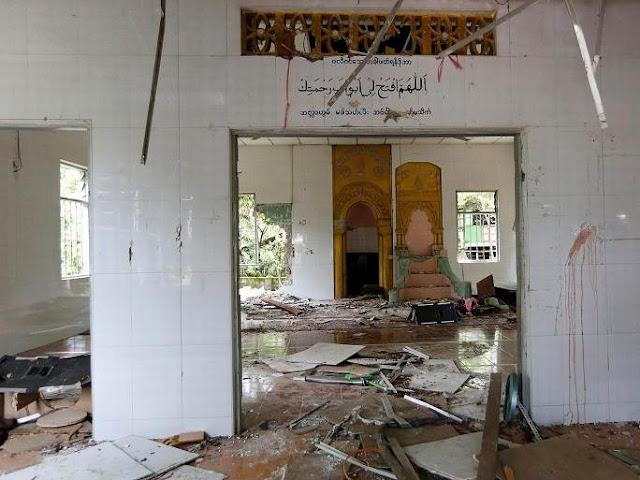 Lagi, Masjid Di Myanmar Dirusak Ekstremis Umat Budha