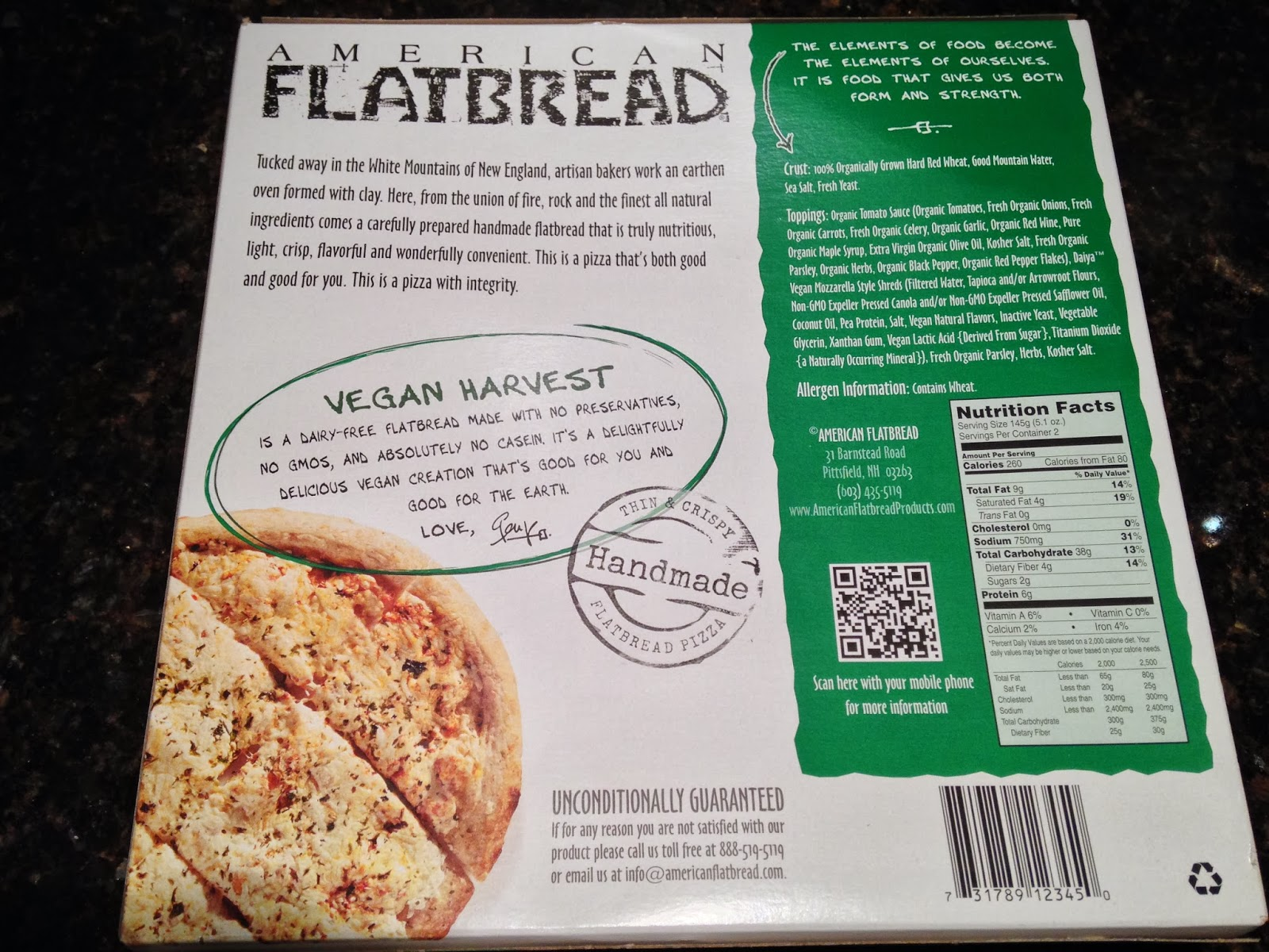 Vegocracy: Dining In - American Flatbread Vegan Harvest Pizza