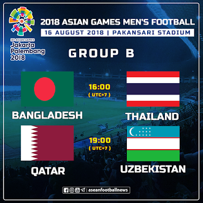 Live Streamingg Qatar vs Uzbekistan Asian Games 2018