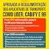 Aprovada a regulamentação de transporte por aplicativos UBER, CABIFY e 99