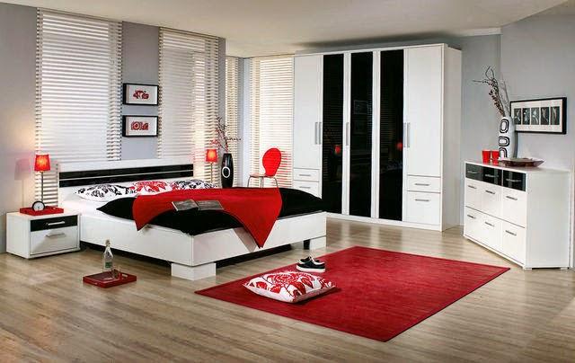 15 Bedroom Design Ideas In Red Color Combinations