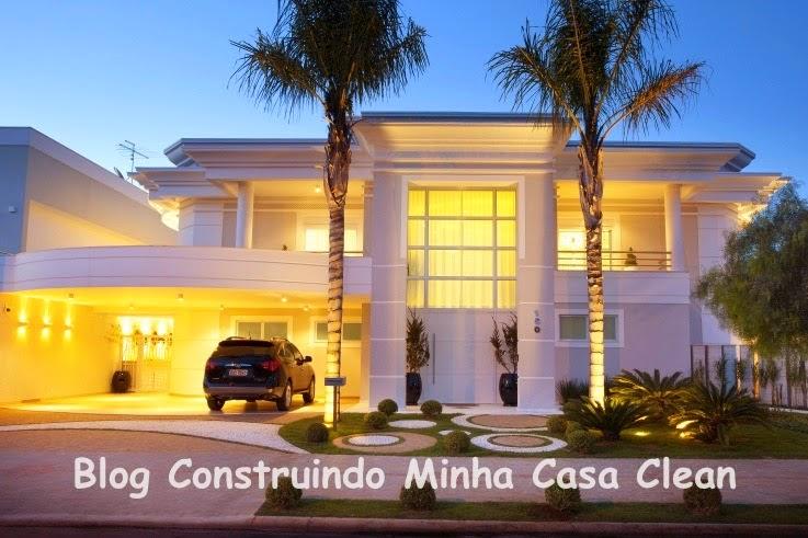Construindo minha casa clean 25 fachadas de casas com for Casa moderna classica