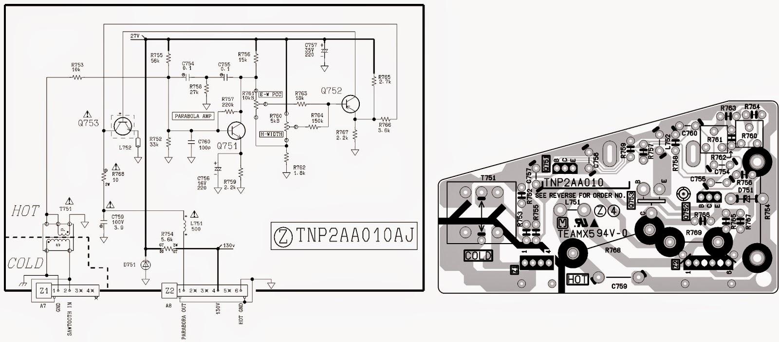 panasonic tv circuit board diagram