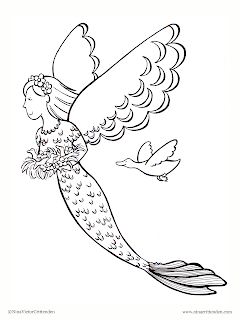 mermaid and fairy coloring pages - photo#26