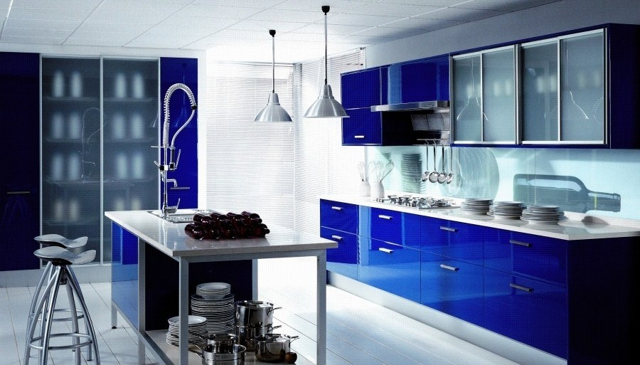 Decoracin de Cocinas en Azul
